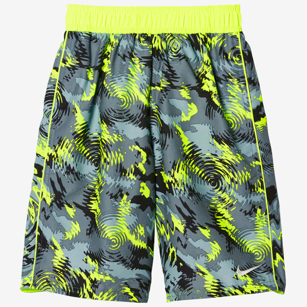 Nike Boys' 9 In. Watercamo Swim Trunks - Yellow, M