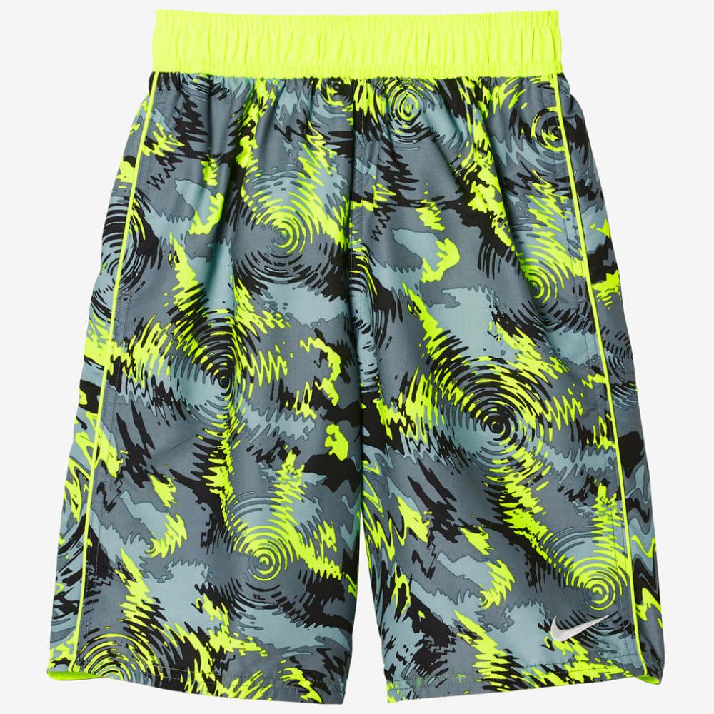 NIKE Boys' 9 in. Watercamo Swim Trunks - VOLT-737