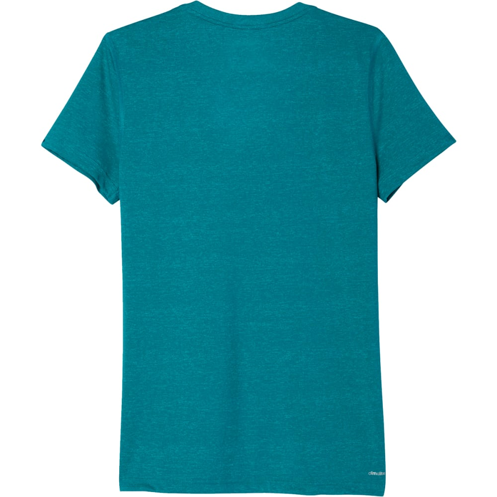 ADIDAS Women's Ultimate V-Neck Tee - EQT GREEN-AJ2136
