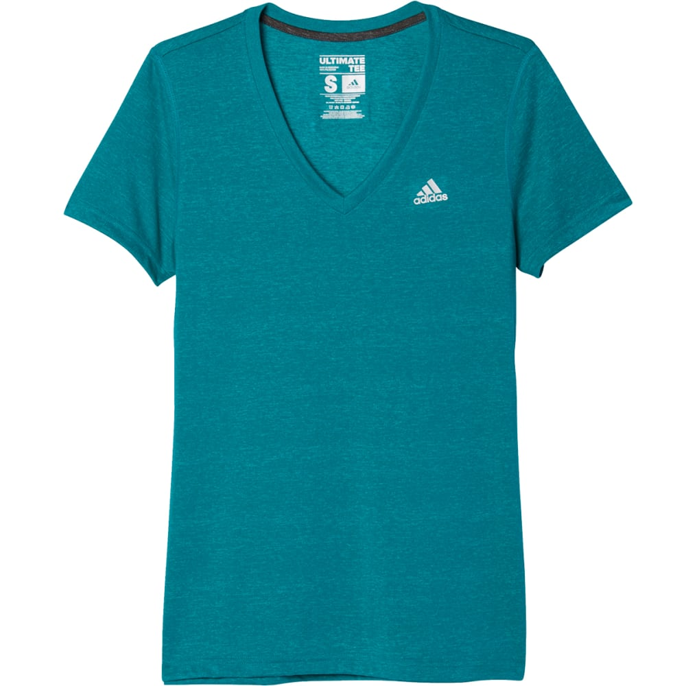 Adidas Women's Ultimate V-Neck Tee - Green, S