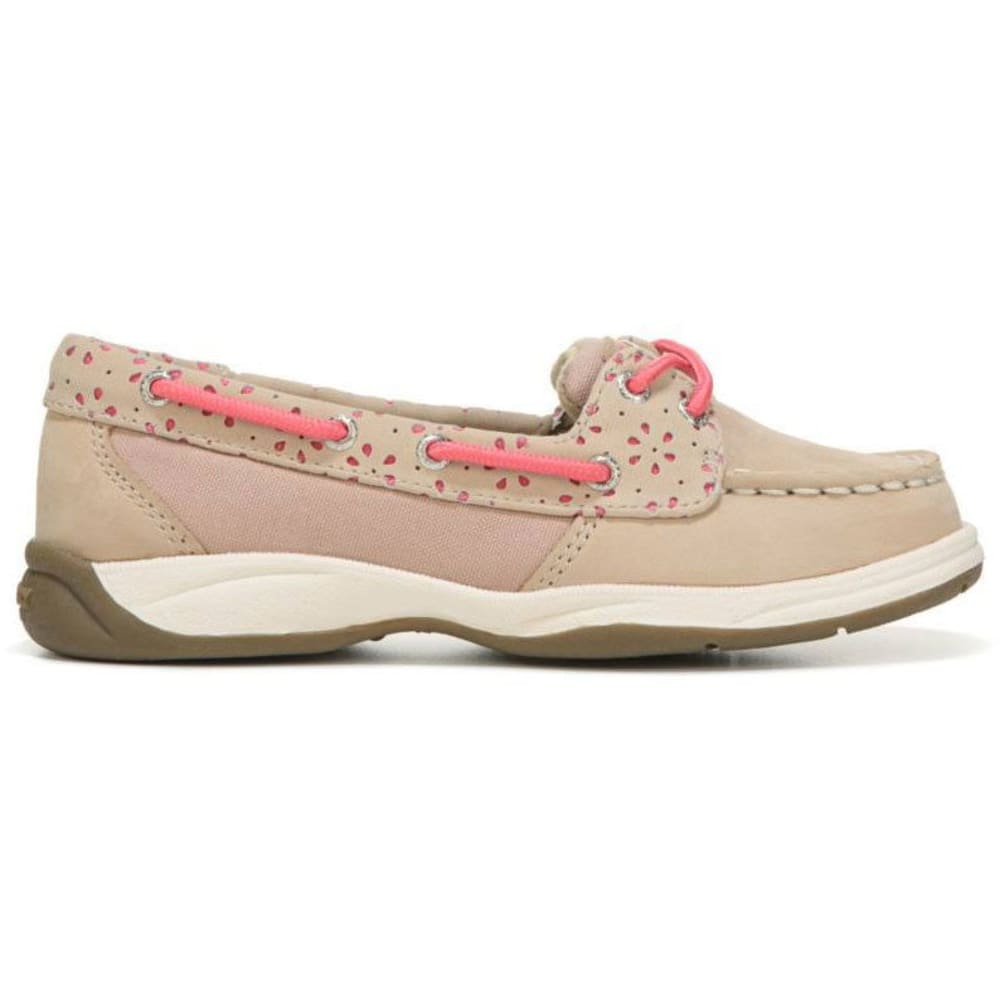 SPERRY Girls' Laguna Cutout Boat Shoes, Oat/Coral 1