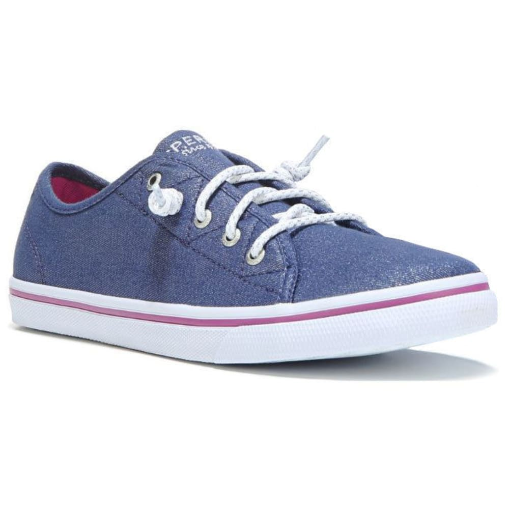 SPERRY Girls' Pier Sneakers, Sparkle Denim - PIER DENIM