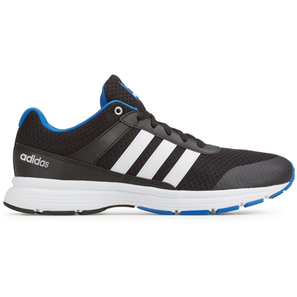 ADIDAS Men's Cloudfoam VS City Running Shoes, Black/Blue - BLACK