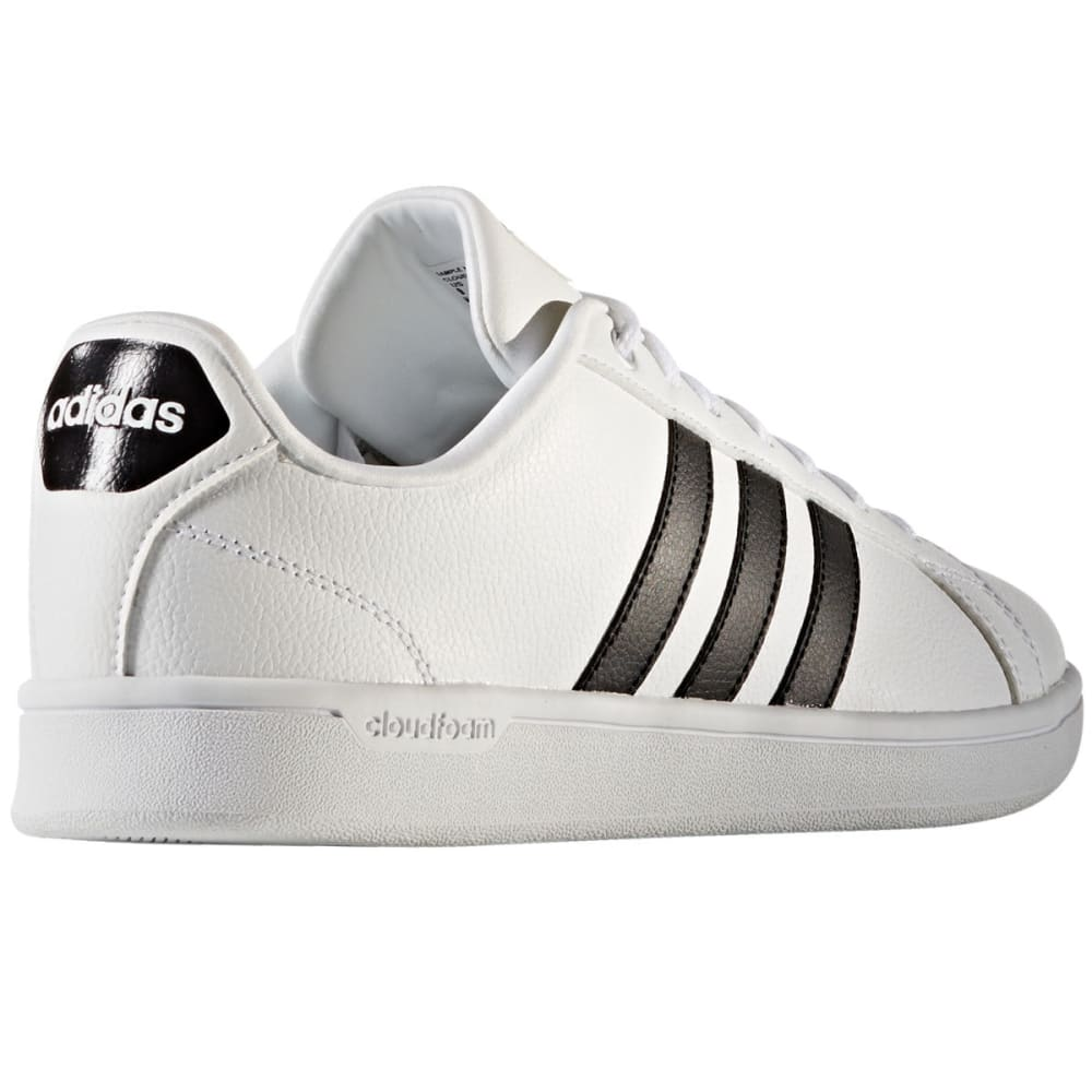 ADIDAS Men's Cloudfoam Advantage Clean Stripe Shoes - WHITE