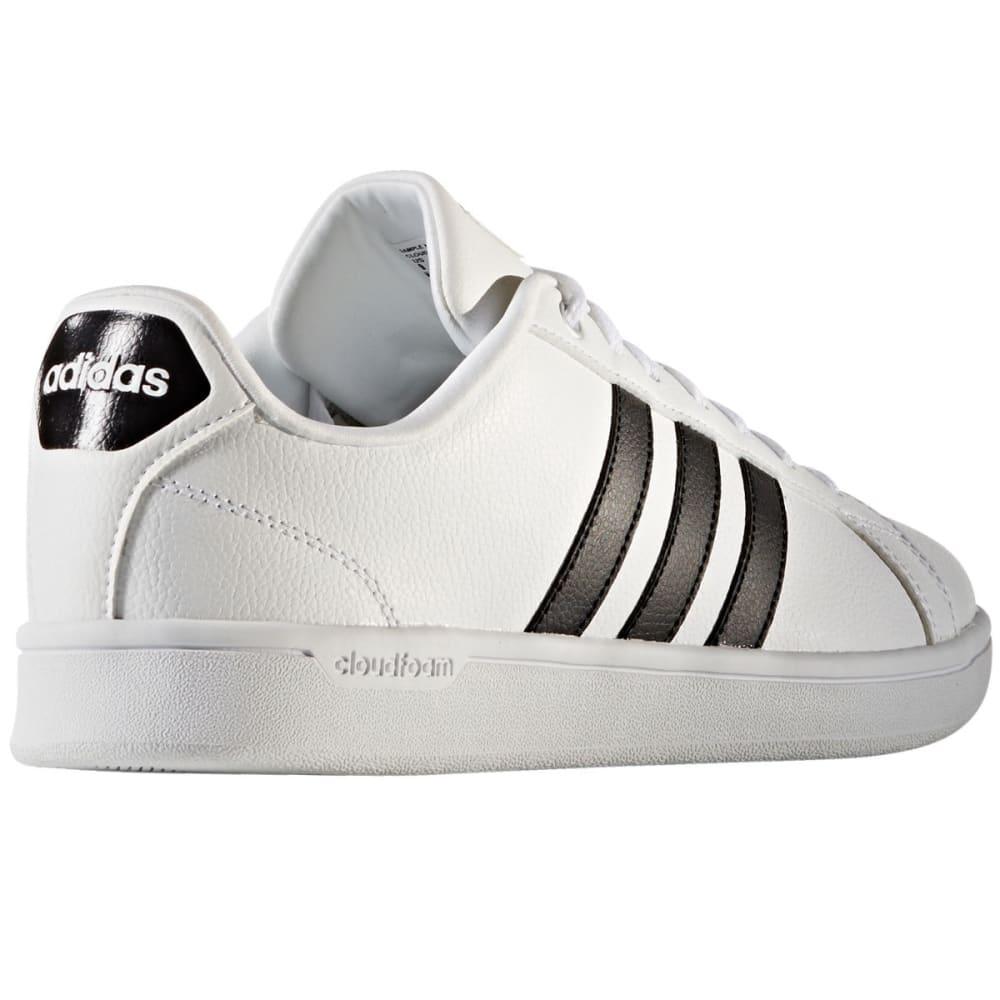 ADIDAS Men's Cloudfoam Advantage Clean Stripe Shoes - WHITE