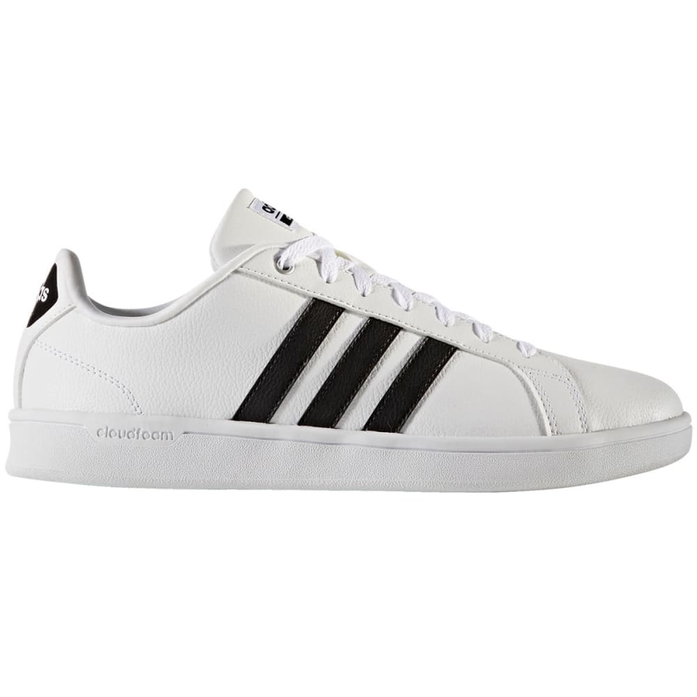 Adidas Men's Cloudfoam Advantage Clean Stripe Shoes - White, 8