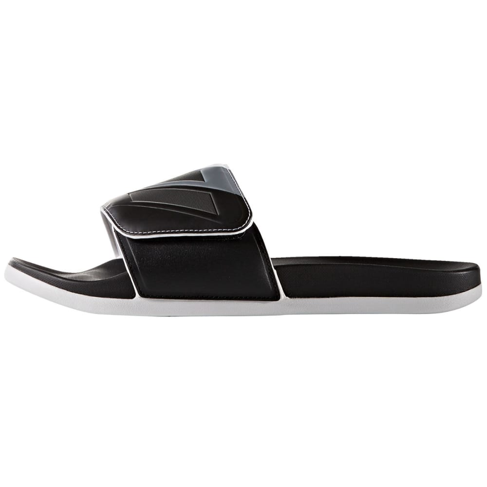 ADIDAS Men's Adilette Cloudfoam Plus Adjustable Slides - BLACK
