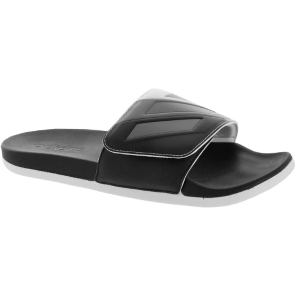 Adidas Men's Adilette Cloudfoam Plus Adjustable Slides - Black, 7