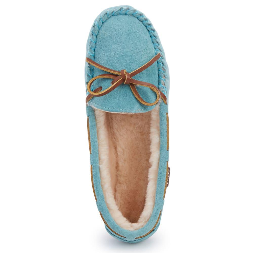 LAMO Women's Kayla Sherpa Moccasin Slippers, Mint - MINT