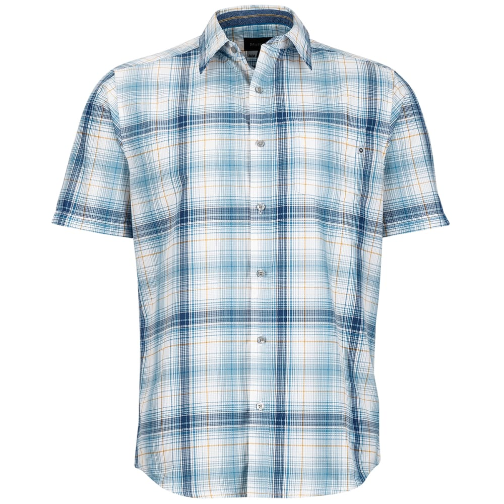 Marmot Men's Notus Short-Sleeve Shirt - Blue, M