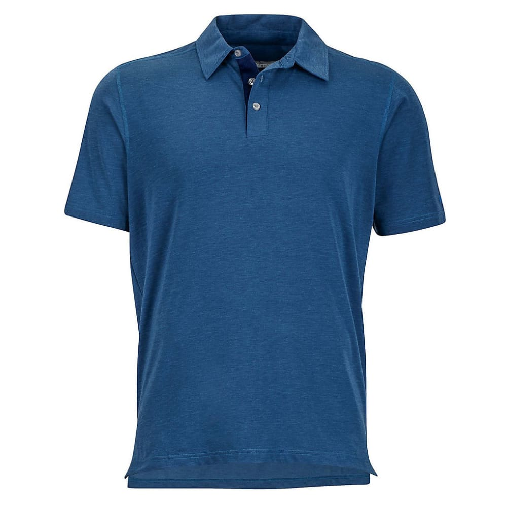 Marmot Men's Wallace Short-Sleeve Polo Shirt - Blue, L