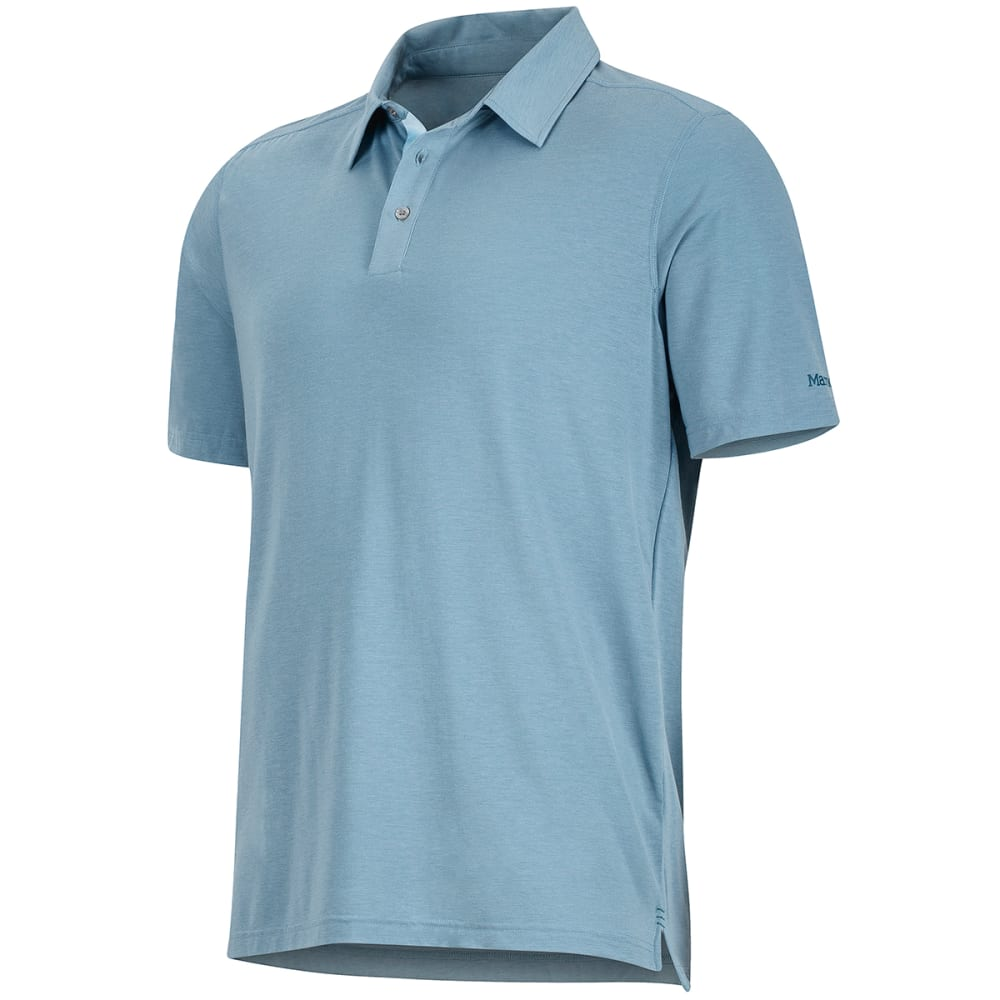 MARMOT Men's Wallace Short-Sleeve Polo Shirt - 3819-BLUE GRANITE HT