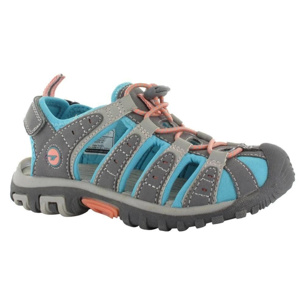 HI-TEC Girls' Cove Jr. Sandals, Grey/Blue - GREY