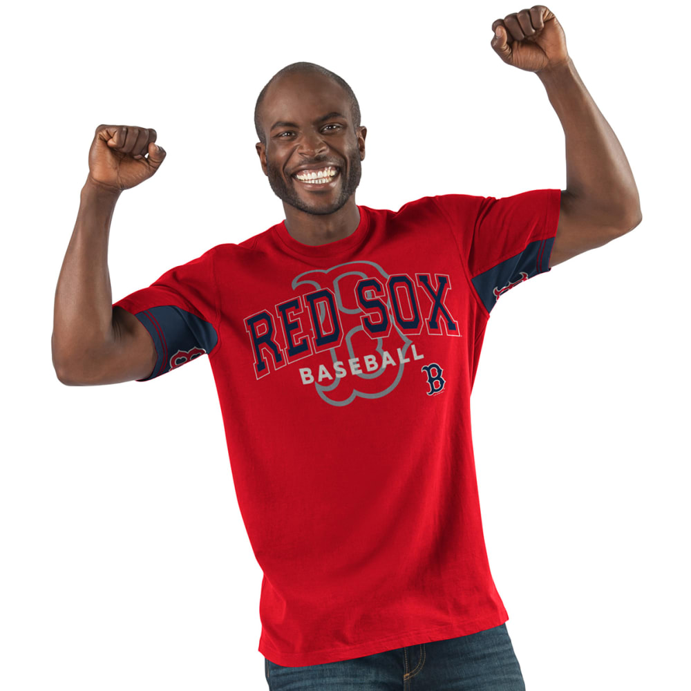 BOSTON RED SOX Men's Double Play Hands High Short-Sleeve Tee - RED-BRX