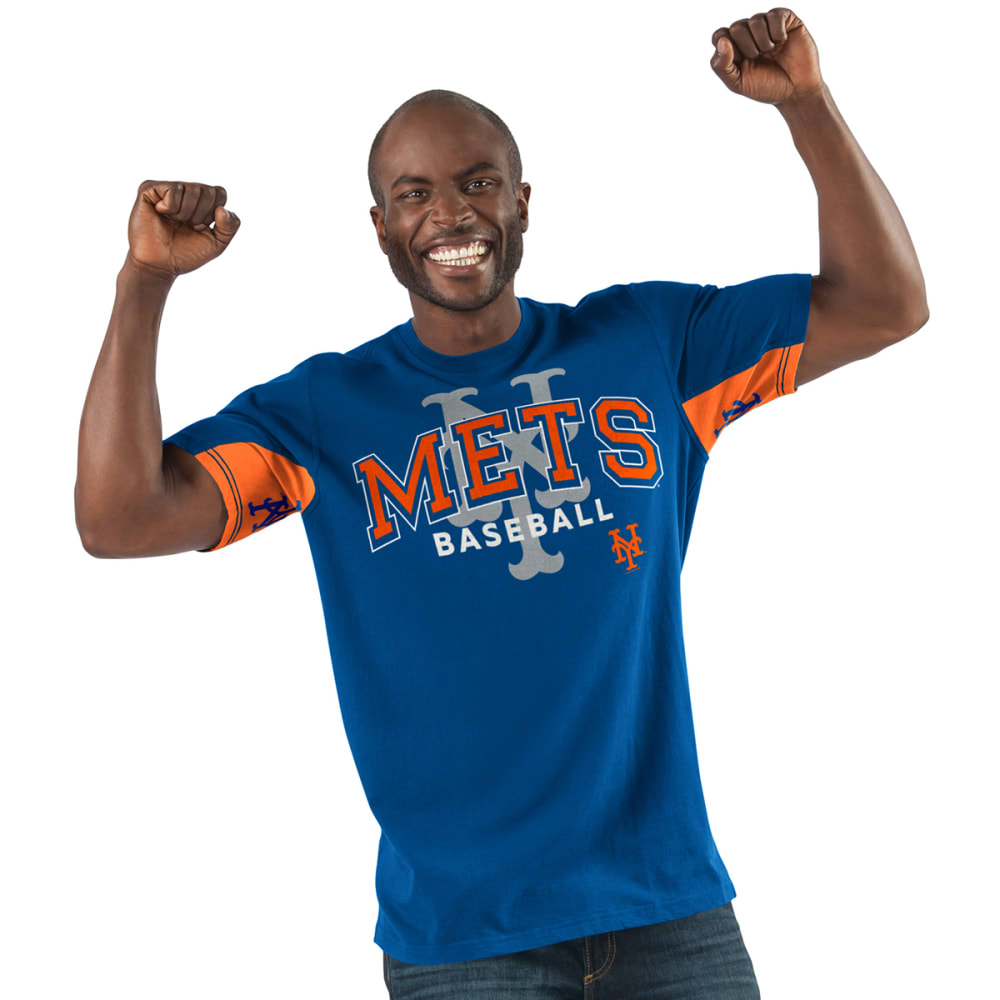 NEW YORK METS Men's Double Play Hands High Short-Sleeve Tee - ROYAL-NYM