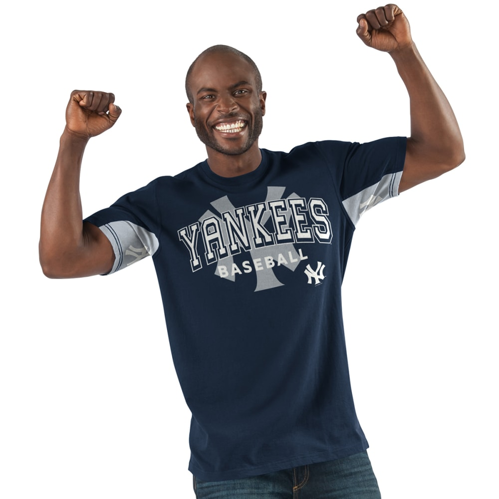 NEW YORK YANKEES Men's Double Play Hands High Short-Sleeve Tee - NAVY-NYY