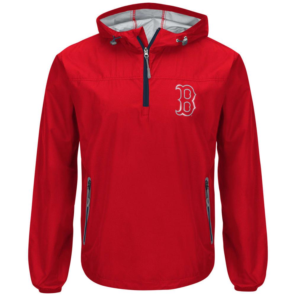 BOSTON RED SOX Men's Maximum Half-Zip Pullover Hoodie - RED-BRX