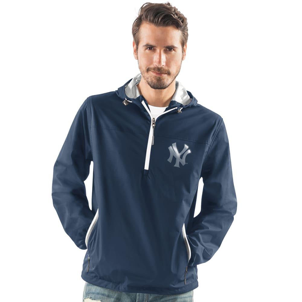 NEW YORK YANKEES Men's Maximum Half-Zip Pullover Hoodie - NAVY-NYY