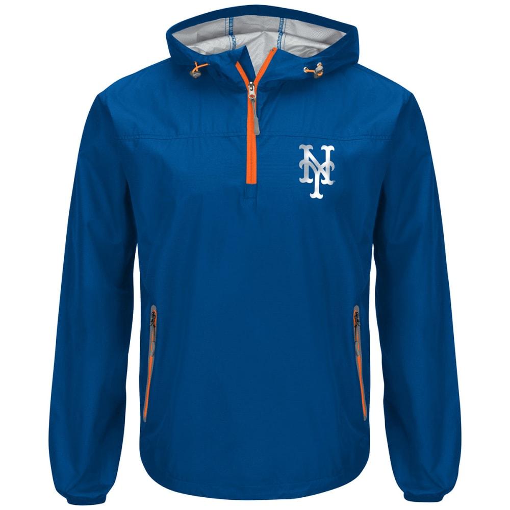 NEW YORK METS Men's Maximum Half-Zip Pullover Hoodie - ROYAL-NYM