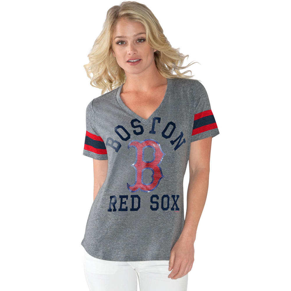 BOSTON RED SOX Women's Triple Play Short-Sleeve Tee - GREY-BRX