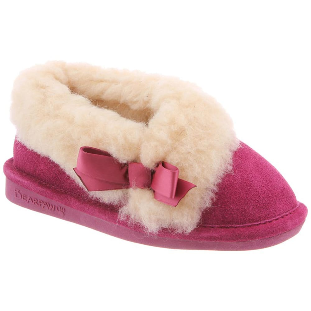 BEARPAW Girls' Nicole Slippers - POMBERRY