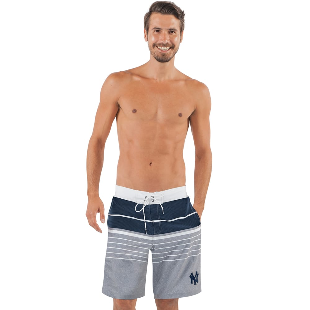 NEW YORK YANKEES Men's Balance Swim Trunks - GREY-NYY