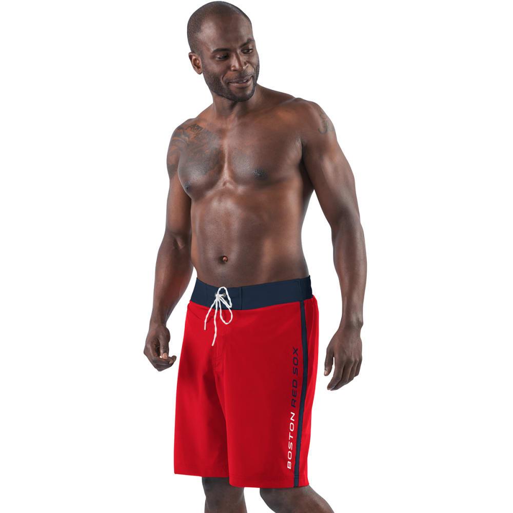 BOSTON RED SOX Men's Endurance Swim Trunks - RED-BRX