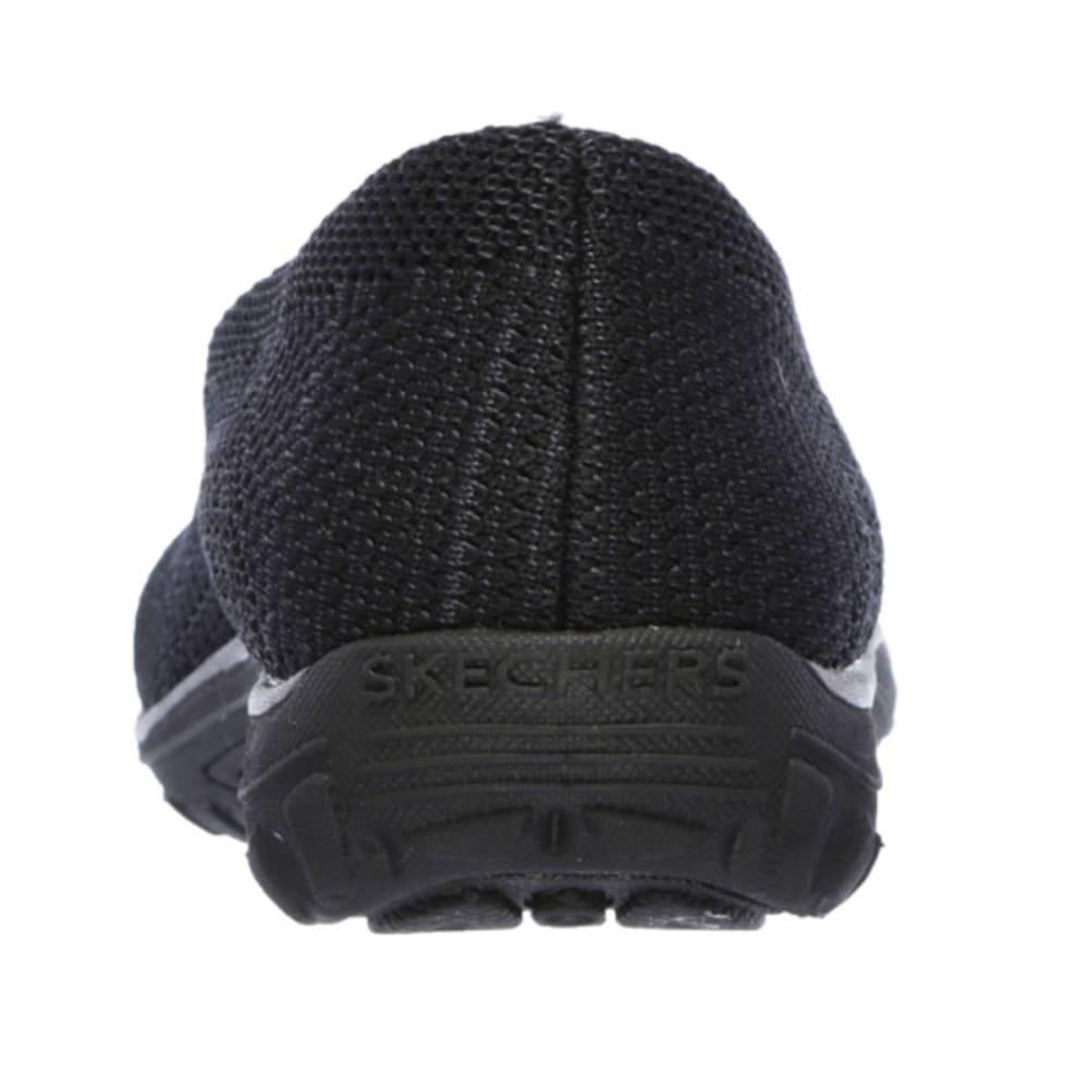 SKECHERS Women's Reggae Fest Knit Skimmer Shoes - BLACK