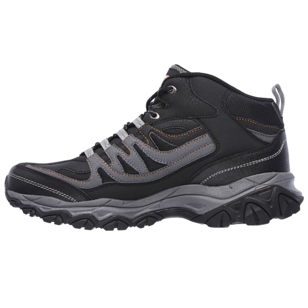 SKECHERS Men's After Burn Memory Fit – Geardo Sneakers - BLACK
