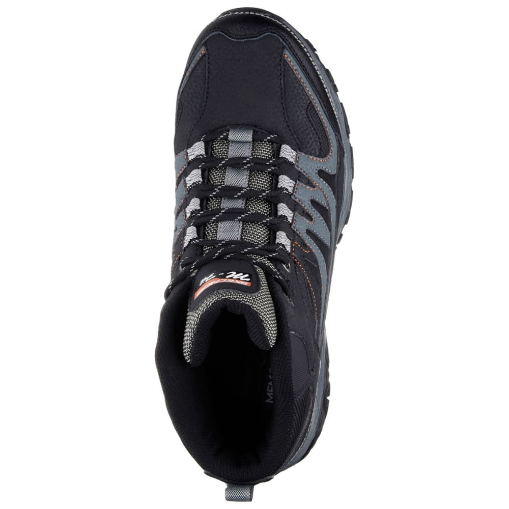 SKECHERS Men's After Burn Memory Fit – Geardo Sneakers - BLACK