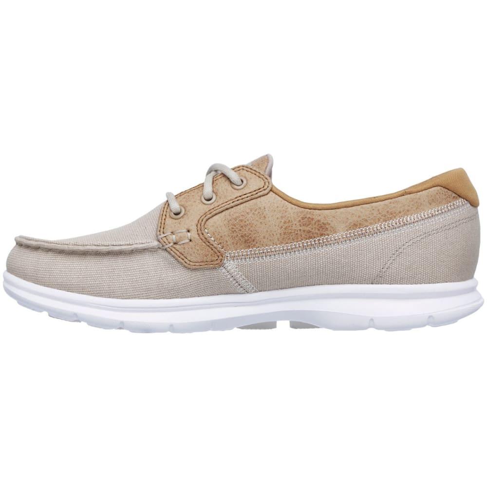 SKECHERS Women's Go Step – Seashore Boat Shoes, Natural - NATURAL