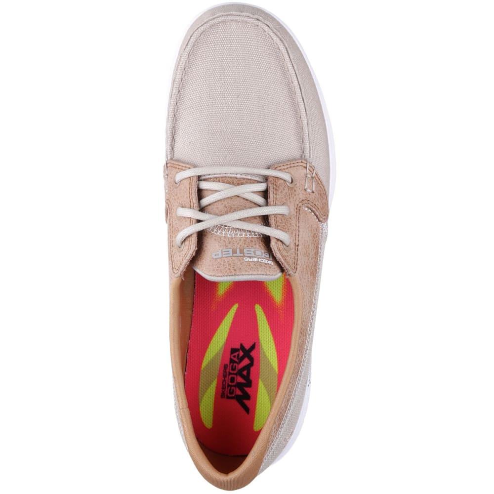 SKECHERS Women's Go Step -  Seashore Boat Shoes, Natural - NATURAL