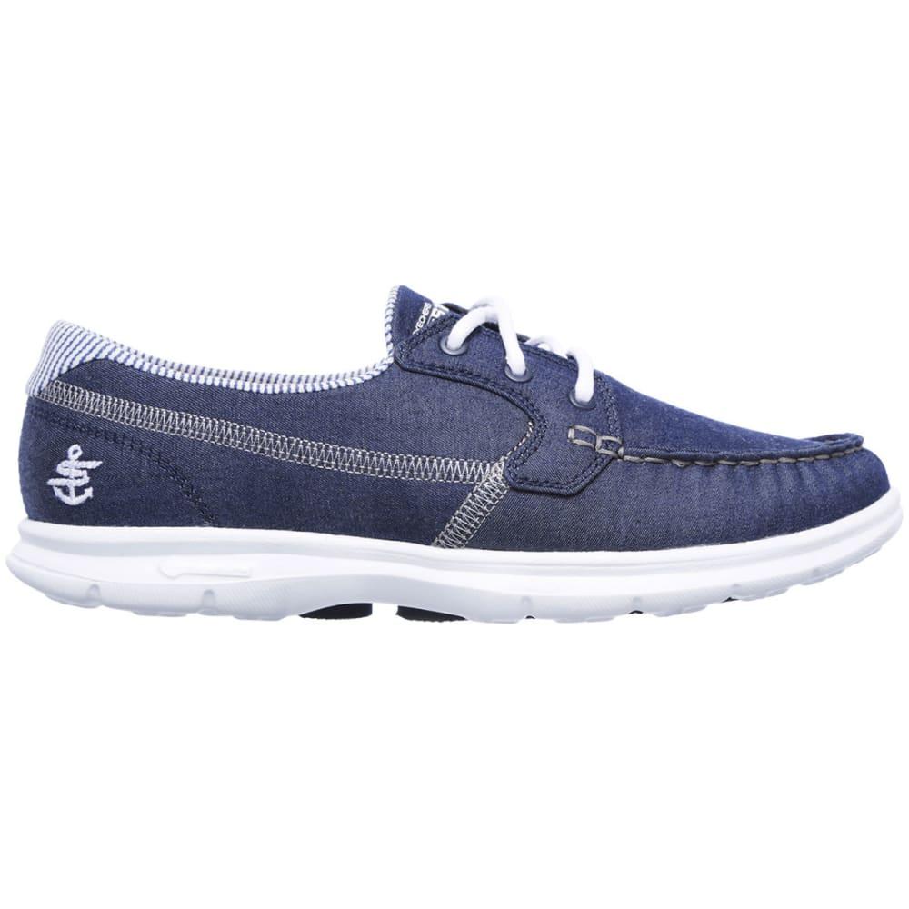 SKECHERS Women's Go Step- Indigo Boat Shoes, Denim - NAVY