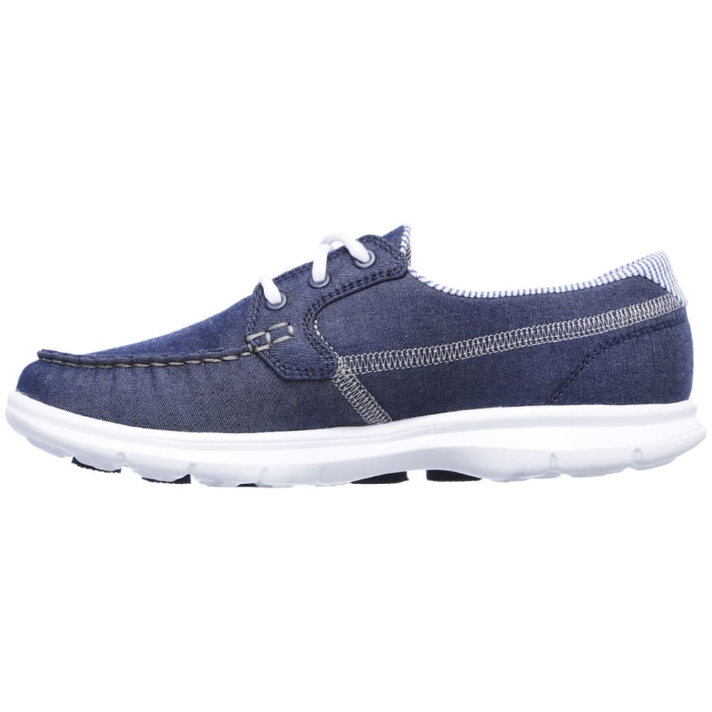 SKECHERS Women's Go Step- Indigo Boat Shoes, Denim - NAVY