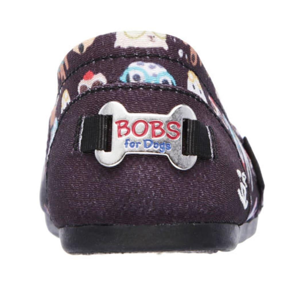 SKECHERS Women's BOBS Plush – Pup Smarts Slip-On Casual Shoes, Black - BLACK