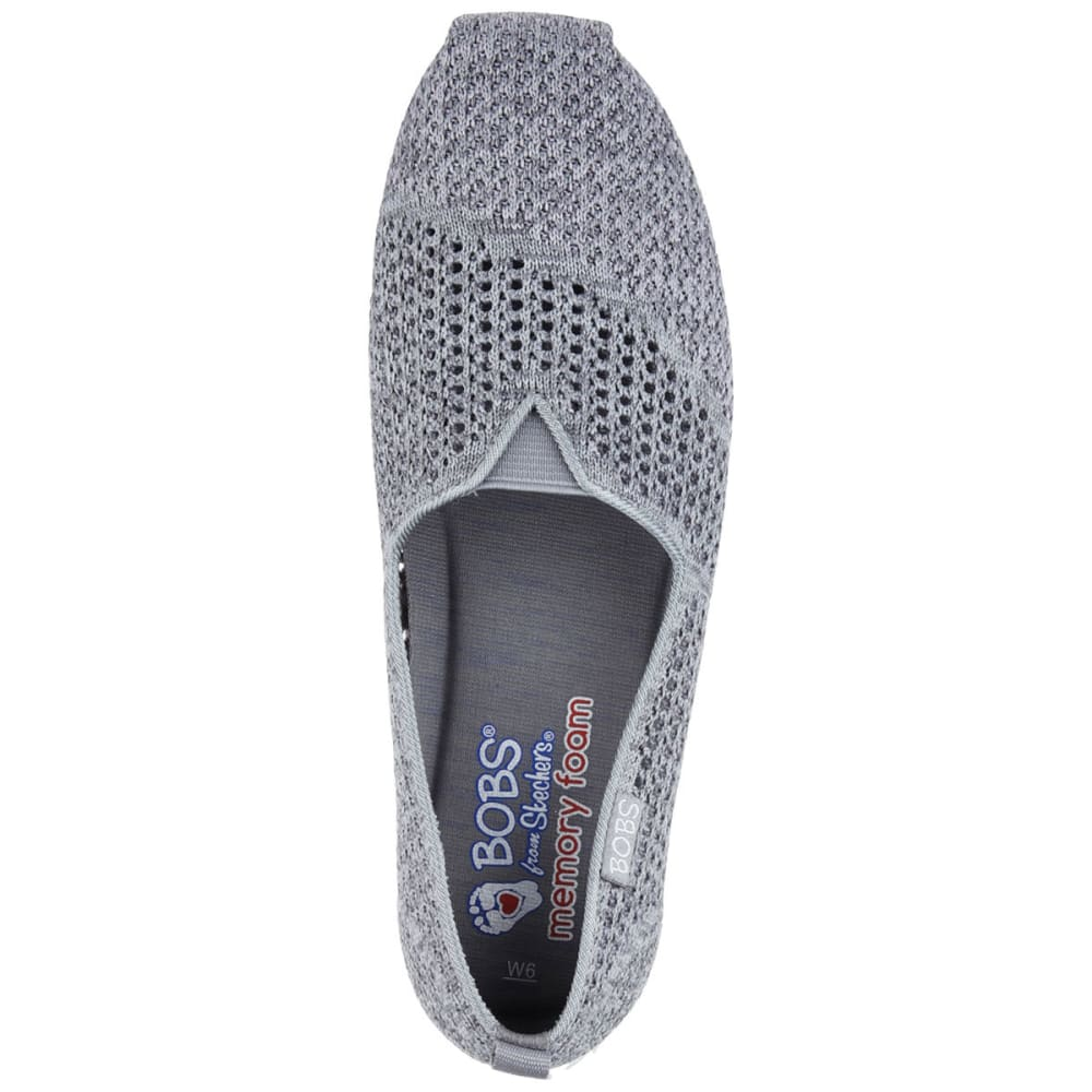 SKECHERS Women's Bobs Plush Lite – Be Cool Flats - GREY
