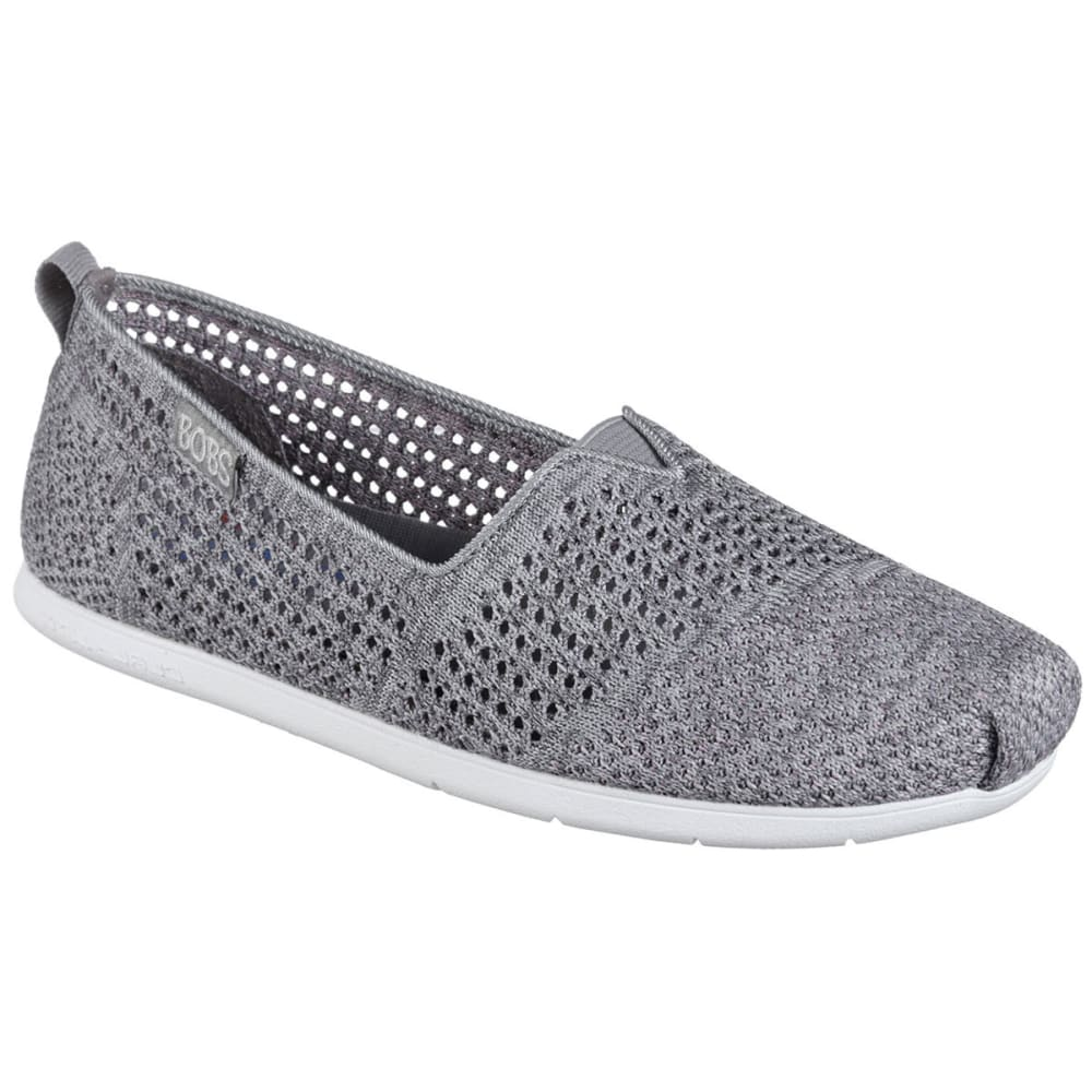 SKECHERS Women's Bobs Plush Lite – Be Cool Flats - GREY