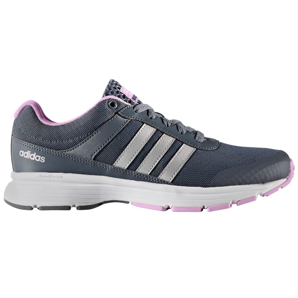 Adidas Women's Neo Cloudfoam Vs City Running Shoes - Black, 8