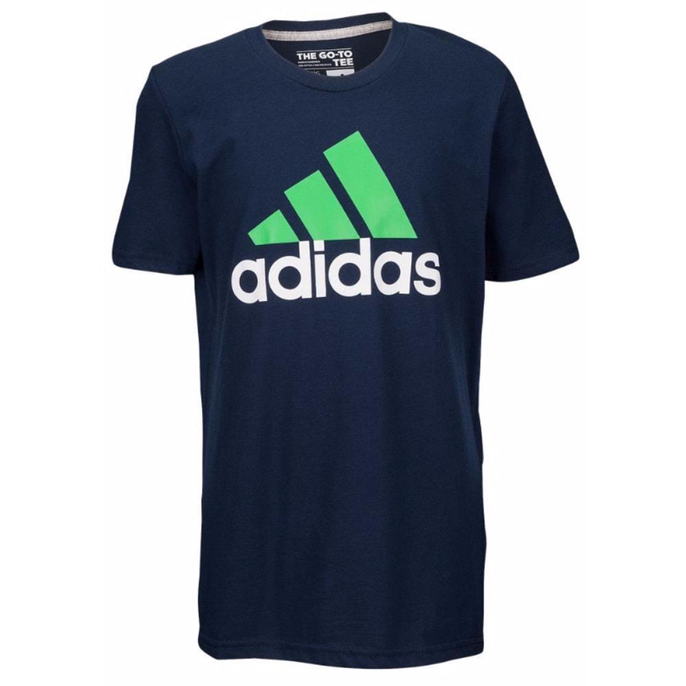 ADIDAS Boys' Logo 30's Short-Sleeve Tee - AQB COLL.  NVY-410
