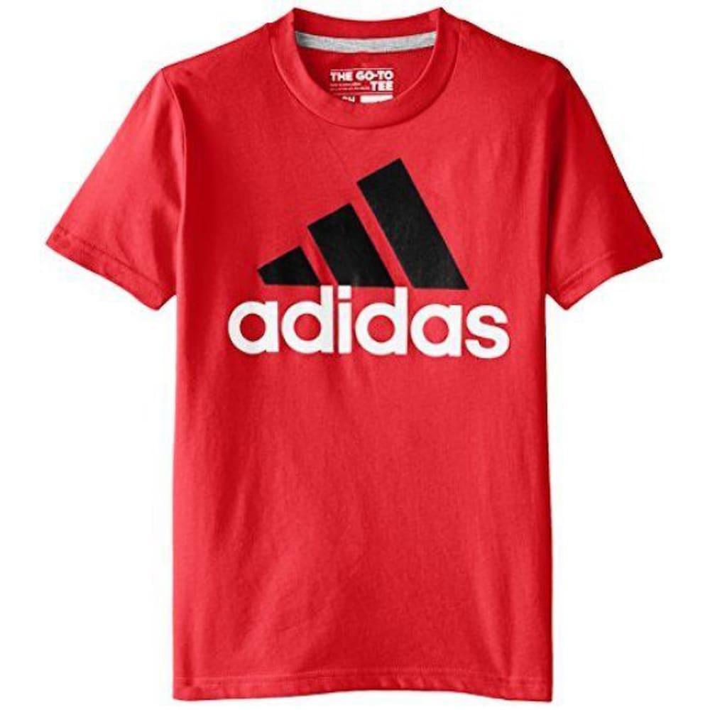 ADIDAS Boys' Logo 30's Short-Sleeve Tee - A95 LT. SCARLET-603