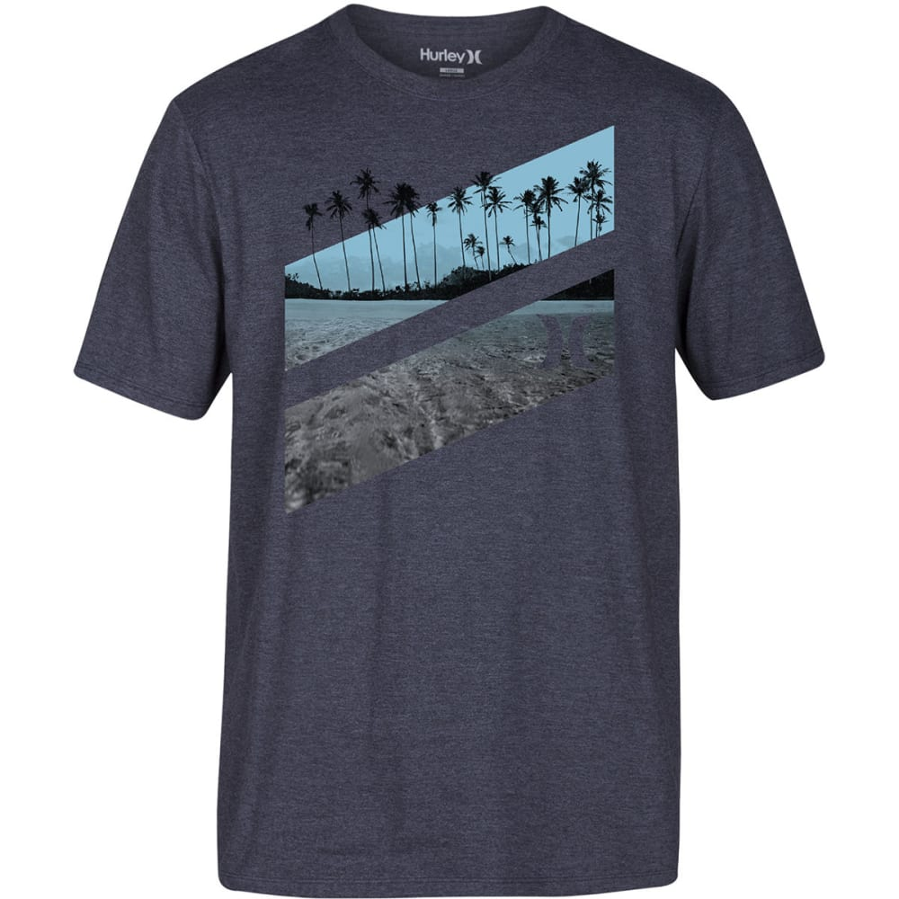 HURLEY Guys' Icon Slash Lagoon Short-Sleeve Tee - 03B-BLACK HTR007