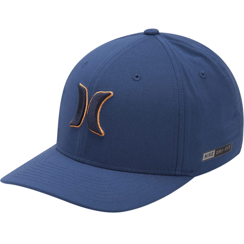 HURLEY Guys' Dri-FIT Heather Fitted Cap - 45B-OBSIDIAN419