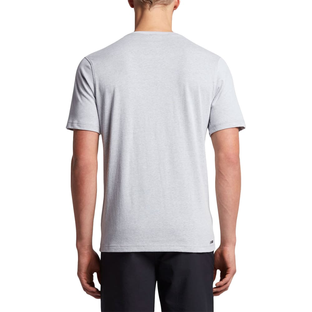 HURLEY Guys' Dri-FIT Lagos Henley Short-Sleeve Tee - 01V-WOLF GREY