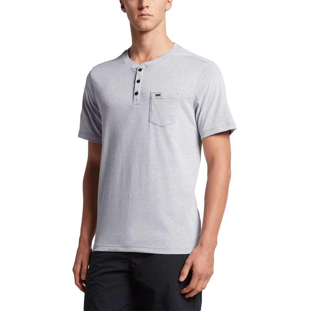 HURLEY Guys' Dri-FIT Lagos Henley Short-Sleeve Tee S