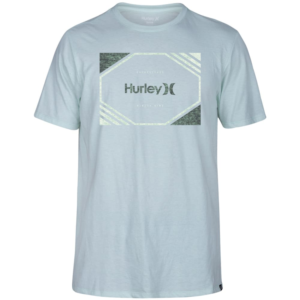 HURLEY Guys' Chopped Short-Sleeve Tee - 3LX-COOL MINT316