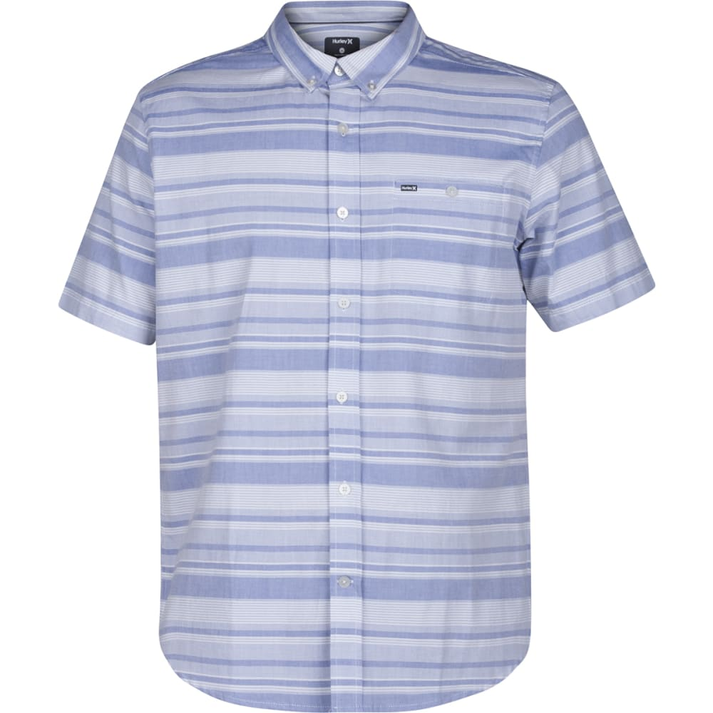 HURLEY Guys' Froth Short-Sleeve Shirt - 4EV-GAME ROYAL496