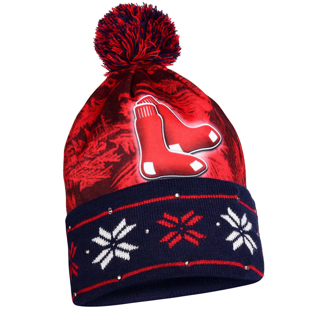 BOSTON RED SOX Big Logo Light Up Printed Beanie - RED SOX