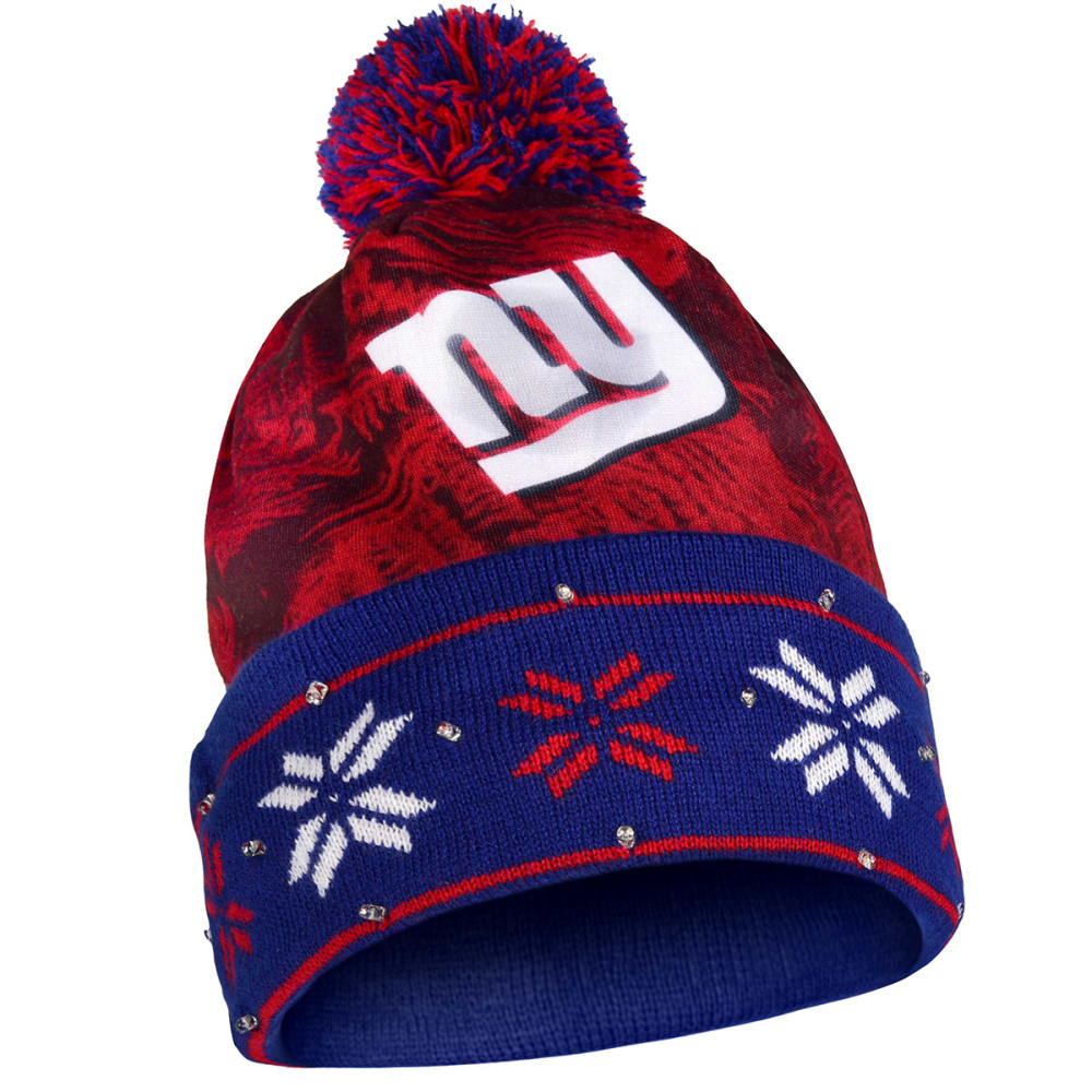NEW YORK GIANTS Big Logo Light Up Printed Beanie - GIANTS