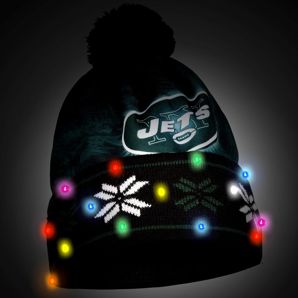 NEW YORK JETS Big Logo Light Up Printed Beanie - JETS