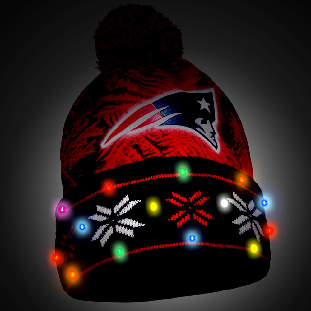 NEW ENGLAND PATRIOTS Big Logo Light Up Printed Beanie - PATRIOTS